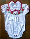 CD068_03 Embroidered Baby Body for Girls Size 68