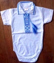 CX074_01 Embroidered Baby Body for Boys Size 74